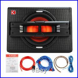 12 Inch 1200W Active Powered Car Subwoofer Audio Sub Box Enclosure+Wire Kit UK