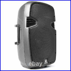 15 Inch Active PA Loud Speaker Portable Stage Monitor Bluetooth 800W System