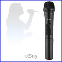15 Inch Portable PA Sound System Speaker with Microphones UHF Wireless BT 800W