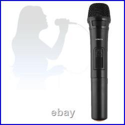 15 Inch Portable PA Sound System Speaker with Mics UHF Wireless Bluetooth 800W