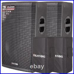 (2) Blastking 15 inch Active Loudspeaker 1200 W Class-D Bi Amp DSP Mode withbag