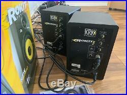 2 KRK Rokit 5 G3 5 inch Studio Monitors Speakers Black (PAIR) cables included