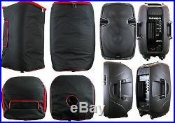 2 SPEAKER BAGS Padded FIT 15 INCH JBL EON515 Gemini ES-15BLU PA DJ Powered