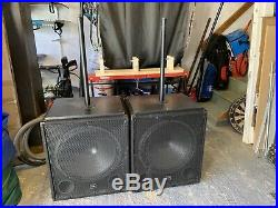 2 x 18 inch Bass Speaker DJ Disco Sub 500W