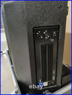 2 x Admark 15 inch Active Monitors Flightcased. New
