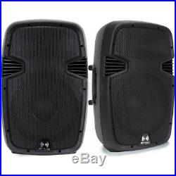 2x 12 Inch Professional DJ PA Party Active Sound System Speakers 1200W UK Stock