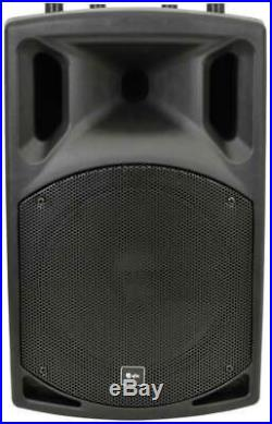 2x DJ 12 Inch ABS Active PA Speakers Disco Party Sound System 800W