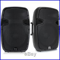 2x Ekho RS15A 15 Inch Active Speakers DJ PA Karaoke Party 1600W Set SSC2130