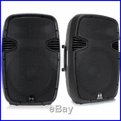 2x Ekho RS15A 15 Inch Active Speakers DJ PA Karaoke Party 1600W Set UK Stock