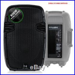 2x Ekho RS15A 15 Inch Active Speakers Studio DJ Karaoke Party 1600W SSC2214