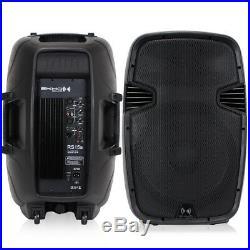 2x Ekho RS15A 15 Inch Active Speakers Studio DJ Karaoke Party 1600W UK Stock