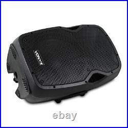 2x Vexus AP1200A Active 12 Inch DJ Disco PA Speaker System 1200W Max Kit