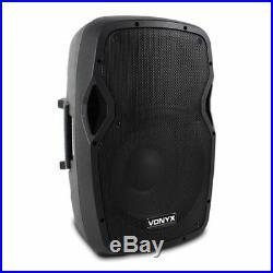2x Vexus AP1200A Active 12 Inch DJ PA Speaker System 1200W Max Kit UK Stock