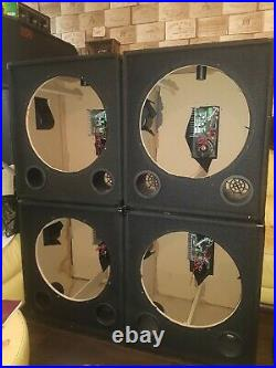 4 Empty 18-inch Active Bass Boxes, all 4 amps working perfect