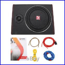 8 Inch 600W Car Subwoofer Speaker Active Under Seat Slim Sub Woofer AMP Super Ba