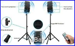 AKUSTIK 12 Inch 3000 Watt DJ Powered PA Speaker System Combo Set Free Shipping