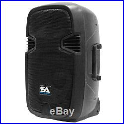 Active 12 Inch PA Speaker System Bluetooth, Wireless Mic, Stands and Cables