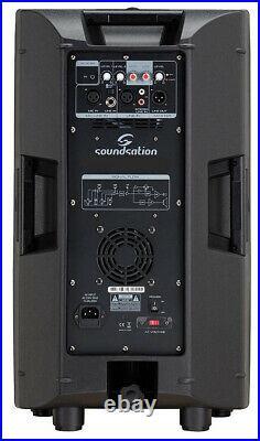 Active 8 Inch Party Speaker Monitor Background Music 480 Watt