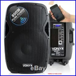 Active DJ PA Speakers Disco with Bluetooth 15 Inch Vonyx AP1500 1600W