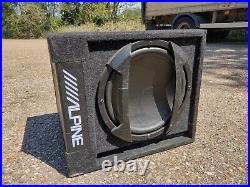 Alpine 12 V-Power Active Subwoofer Amp Bassbox & wiring inch speaker SWD-355