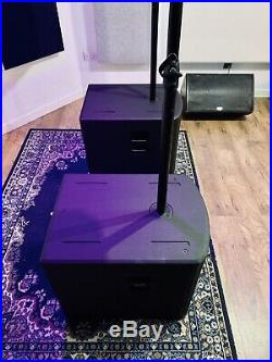 Alto Black 18 Inch Subs & 15 inch Mid / Tops Complete PA System 4.8kw RMS