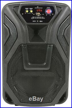 Busker 12 inches PA with VHF Mics, Media Player & Bluetooth