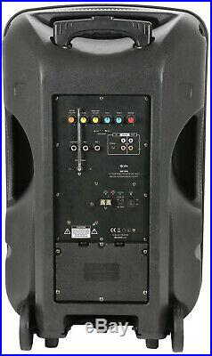 Busker 15 inches PA with VHF Mics, Media Player & Bluetooth