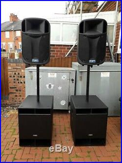 Complete FBT Active 18inch subs and 12inch Italian tops pa system in vgc