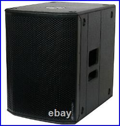 DB Technologies SUB 615 active 15-inch subwoofer, 600W (1200Wpeak), With Cover