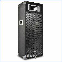 Dual 15 Inch Active Powered Speaker Home DJ Party PA Karaoke System 1600W