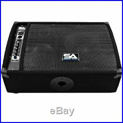 FL-10MP-PW Premium Powered 2-Way 10-Inch Active Floor/Stage Monitor with Titani