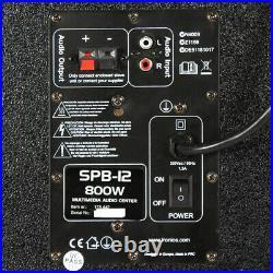 Fenton 178.442 SPB-12 12 Inch Active Passive Bluetooth Speaker Set 800W