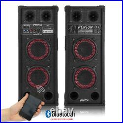 Fenton 178.444 SPB-26 Dual 6.5 Inch Amplified Bluetooth Speaker Set 600W
