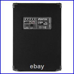 Fenton CSB15 15 Inch Active PA Speaker Portable Karaoke System Home DJ 800W