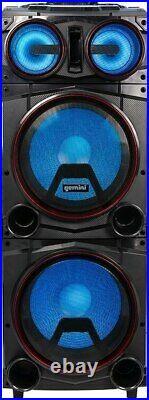 Gemini GMAX-6000 Dual 15 inch LED Party Speaker