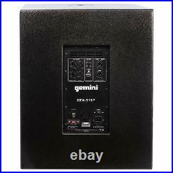 Gemini ZRX-S18P 18 Inch Professional Powered Subwoofer 1600W