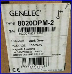 Genelec 8020DPM 4 inch Powered 8020D Studio Monitor Dark Grey (47C)