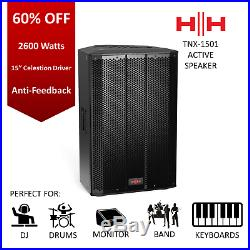 HH 2600W 15-Inch Active Speaker Home Monitor Live Stage Anti Feedback 60% OFF