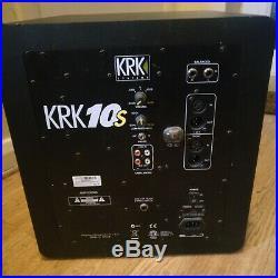 KRK 10s 10 inch Subwoofer Black