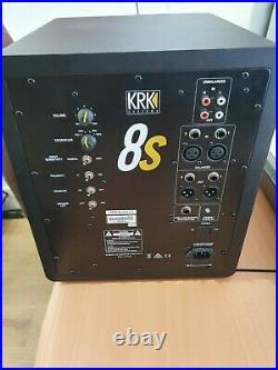 KRK 8s2 Active Studio 8 inch Subwoofer Only 1 month old