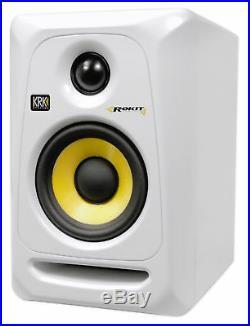 KRK RP4G3W RP4-G3W White Rokit Powered 4 Inch Studio Monitor Active Speaker