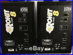 KRK Rokit 8 inch Studio Pair Studio Monitors Black