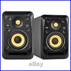 KRK V4S4 Black 4-Inch Active Powered DJ Recording Studio Monitor Speaker (Pair)