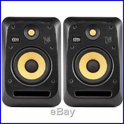 KRK V6S4 Black 6-Inch Active Powered DJ Recording Studio Monitor Speaker (Pair)