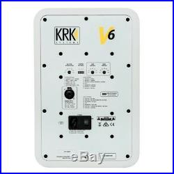 KRK V6S4 White Noise 6-Inch Active DJ Recording Studio Monitor Speaker (Pair)