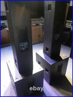 Large PA System, Active, 2 x colume tops, 2 x 18 inch subs