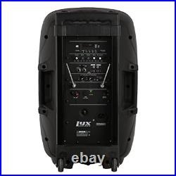 LyxPro 12 Inch Active PA Rechargeable Battery Speaker System, Bluetooth, MP3, SD
