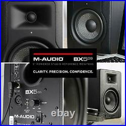 M-Audio BX5 D3 Pair Compact 2-way 5-inch studio monitors / loudspeakers