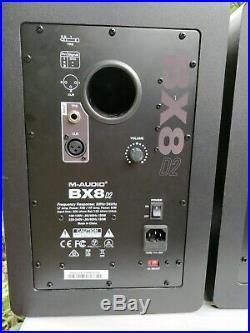 M-Audio BX8 D2 Studio Monitors Speakers 8-inch Drivers 130w Bi-amplified