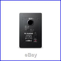 M-Audio BX8 D3 8-Inch DJ Studio Reference Monitor Speakers with Stands & Cables